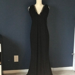 NWT ABS Collection Halter Dress Jeweled Collar L